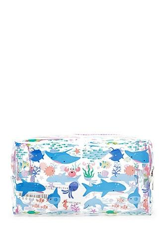 Forever21 Sea Creatures Clear Makeup Bag