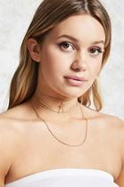 Forever21 Layered Cross Pendant Choker