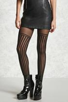 Forever21 Semi-sheer Striped Tights