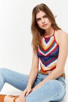 Forever21 Chevron Crochet Crop Top
