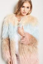 Forever21 Ombre Faux Fur Coat