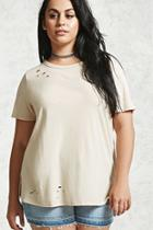 Forever21 Distressed Vented Tee