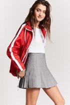 Forever21 Glen Plaid Pleated Skirt
