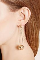 Forever21 Triangle Ball Drop Earrings