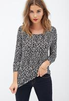 Forever21 Abstract Slub Knit Top