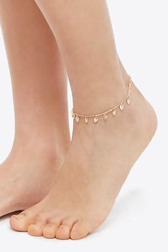 Forever21 Leaf Charm Anklet