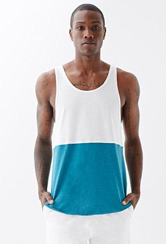 Forever21 Heathered Colorblock Tank Top