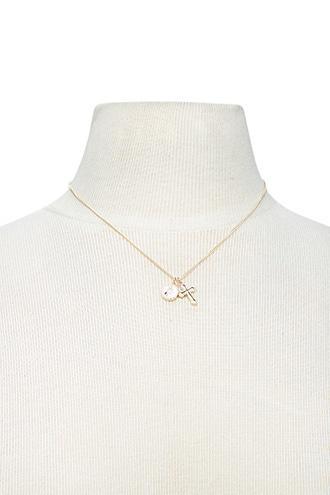 Forever21 Saint & Cross Pendant Necklace