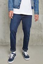 21 Men Men's  Denim Washed Slim-fit Jeans