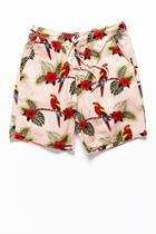 Forever21 Parrot & Floral Print Shorts