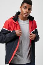 Forever21 Metallic Colorblock Hooded Jacket
