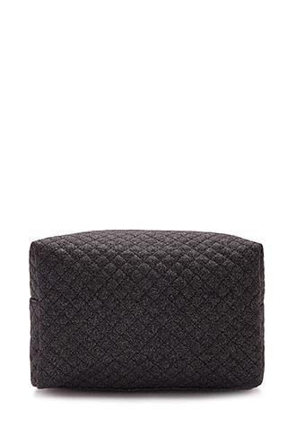 Forever21 Quilted Glitter Makeup Bag