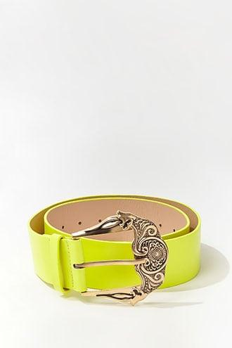 Forever21 Faux Leather Wide Waist Belt