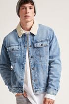 Forever21 Fleece-lined Denim Jacket