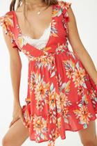Forever21 Sleeveless Floral Mini Dress