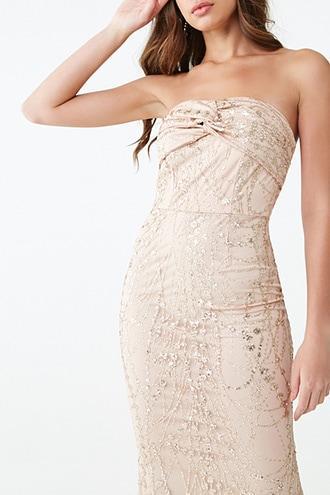 Forever21 Embellished Sequin & Glitter Gown
