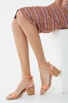 Forever21 Open Toe Block Heels