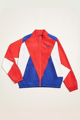 Forever21 Pony Colorblock Track Jacket