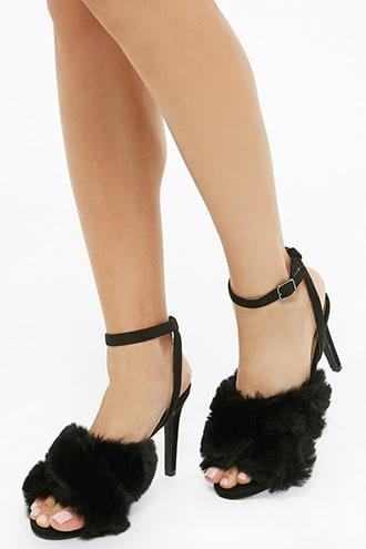 Forever21 L4l By Lust For Life Faux Fur Sandals