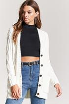 Forever21 Chenille Cable Knit Cardigan