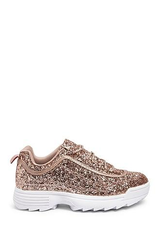 Forever21 Glittery Tennis Shoes