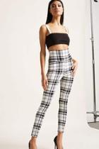 Forever21 High-waist Plaid Leggings