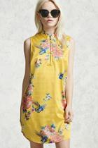 Forever21 Satin Floral Dress