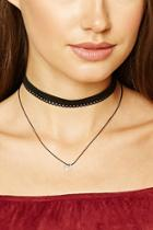 Forever21 Crescent Charm Layered Choker