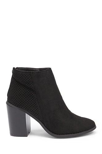 Forever21 Yoki Faux Suede Perforated Booties