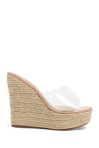 Forever21 Lemon Drop By Privileged Vinyl Espadrille Wedges