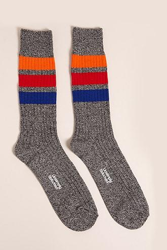 Forever21 Men Unsimply Stitched Striped Crew Socks