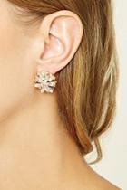 Forever21 Floral Rhinestone Earrings