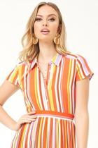 Forever21 Cropped Striped Shirt