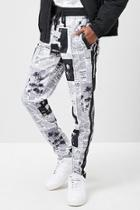 Forever21 Newspaper Print Track Pants