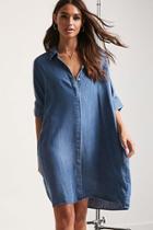 Forever21 Denim Oversized Shirt Dress
