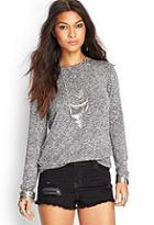 Forever21 Marled Knit Top
