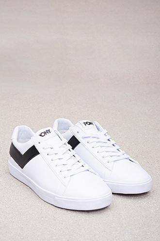 Forever21 Pony Leather Low-top Sneakers