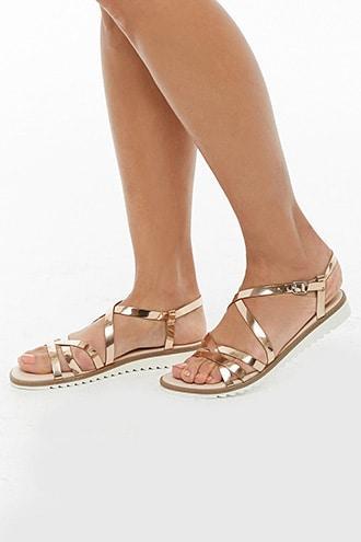 Forever21 Metallic Open Toe Sandals