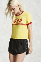 Forever21 Snap-button Satin Shorts