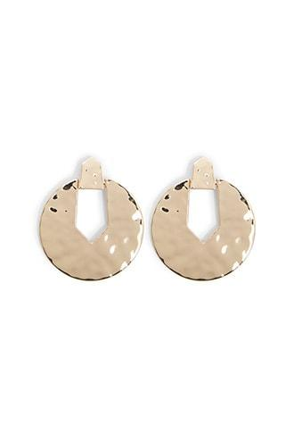 Forever21 Hammered Cutout Drop Earrings