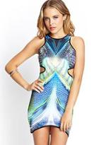 Forever21 Psychedelic Cutout Dress