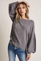 Forever21 Lantern-sleeve Sweater