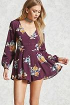 Forever21 Pleated Floral Romper