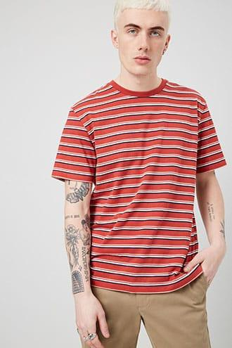 Forever21 Multistriped Crew Neck Tee