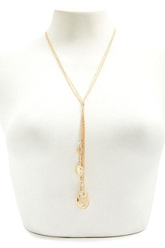Forever21 Coin Pendant Drop Necklace