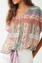 Forever21 Paisley Floral Print Top