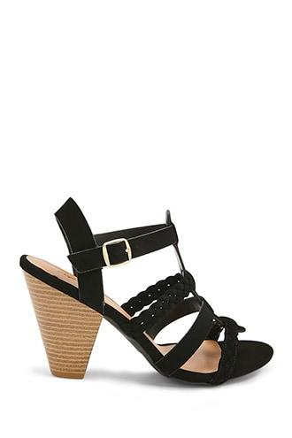Forever21 Qupid Braided Strappy Heels