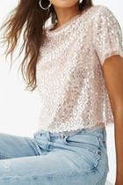 Forever21 Sheer Sequin Top