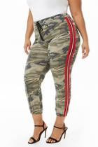 Forever21 Plus Size Side-striped Camo Joggers