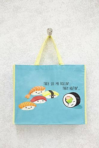 Forever21 They See Me Rollin Graphic Tote